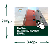Banner del Hospital Fraternidad-Muprespa Habana